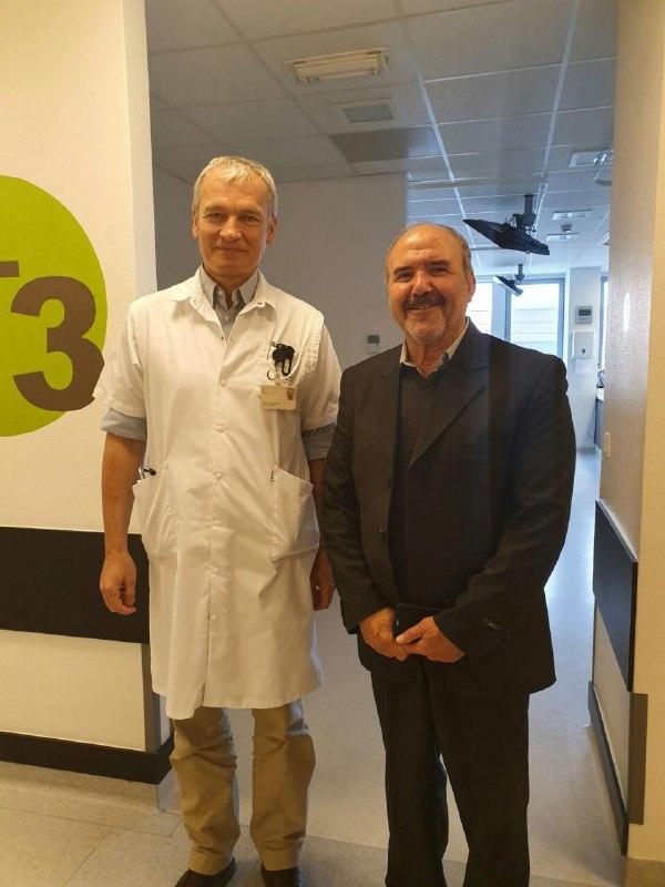 بازدید حسین بیگلری، مدیر انجمن بیماران کلیوی و رئیس شورای عالی بیماران خاص کرمانشاه از بیمارستان UZBrussels در بلژیک