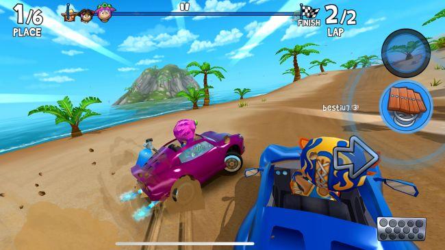 بازی رایگان آیفون - beach buggy racing